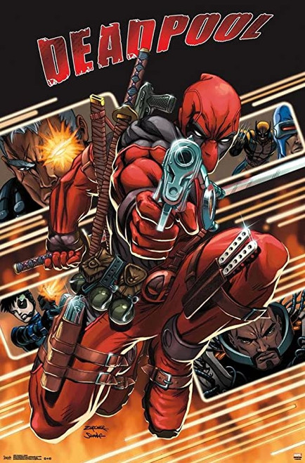 Deadpool Attack Weapons Poster