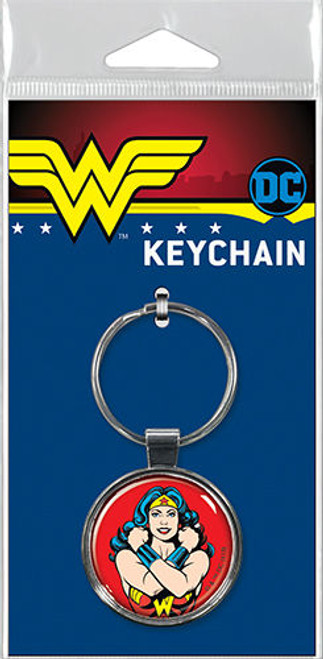Wonder Woman on Red Keychain