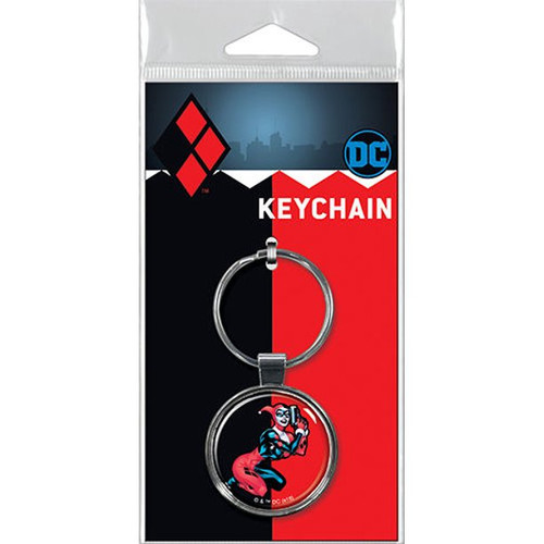 Harley Quinn on Red Keychain