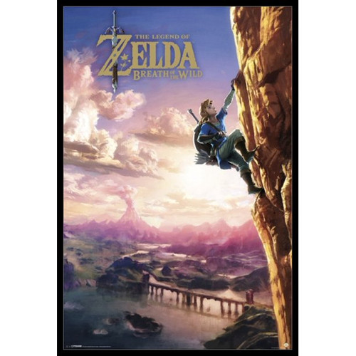 Zelda Breath of the Wild Climbing Rolled Poster