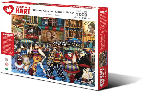 Raining Cats & Dogs in Paris  1000 Piece Puzzle