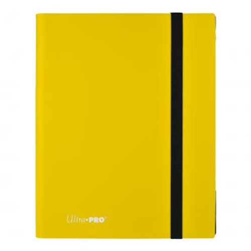 Lemon Yellow 9 Pocket Binder