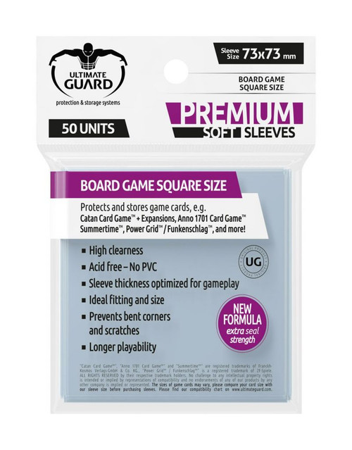 73mm Square Premium Sleeves