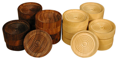 """1.75"""" Stacking Wood Checkers"""