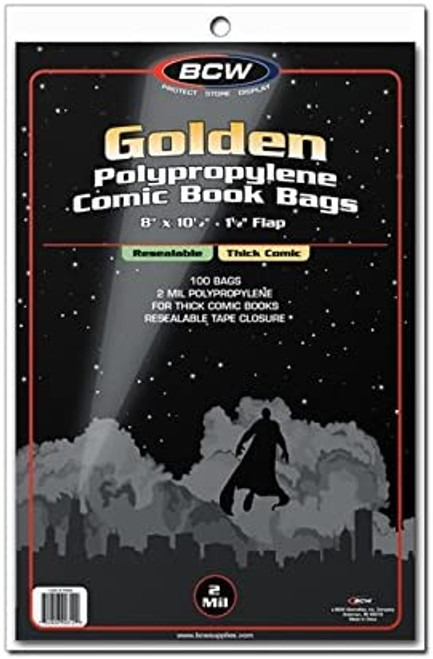 Comic Bags - Golden Thick Resealable
