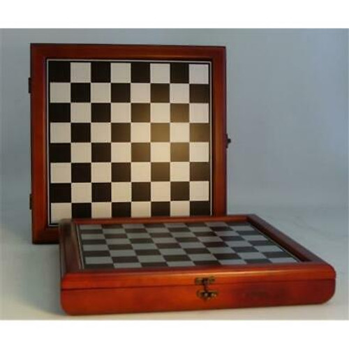 Cherry Stained Chess Chest