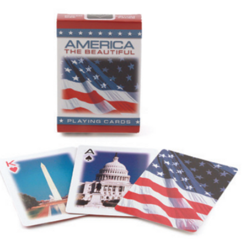 Bicycle American Flag Cards