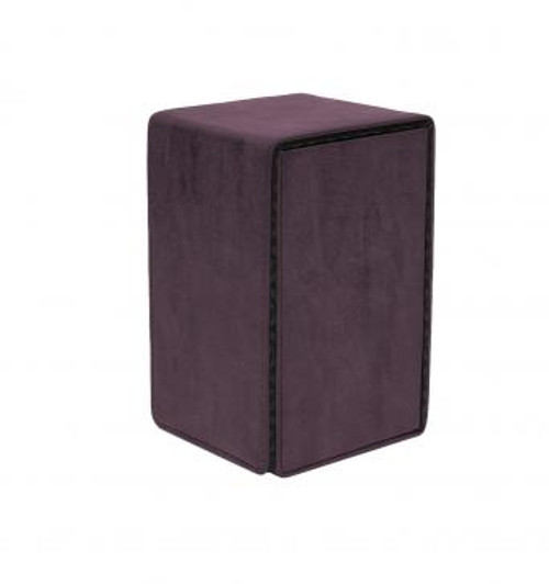 Suede Collection Alcove Tower Amethyst Deck Box