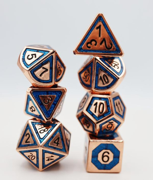 Copper and Teal Compass RPG Set