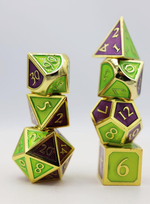 Dual Amethyst and Green RPG Set