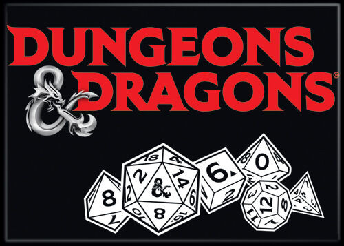 Magnet - D&D Logo and Dice