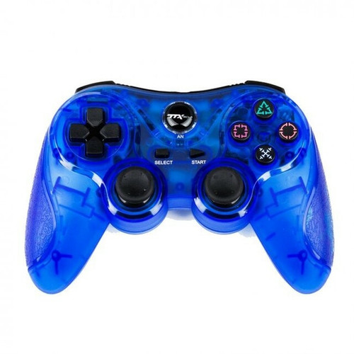 PS2/PS1 Wireless Controller - Clear Blue