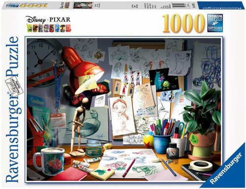 The Artist's Desk 1000 Piece Puzzle