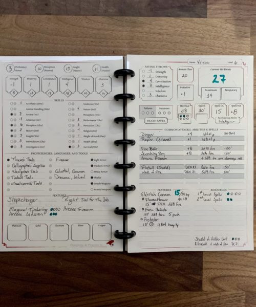 5E Player's Diary Kit