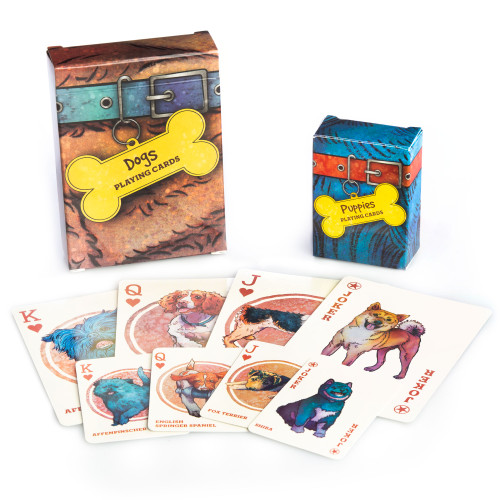 Dogs & Puppies Playing Cards