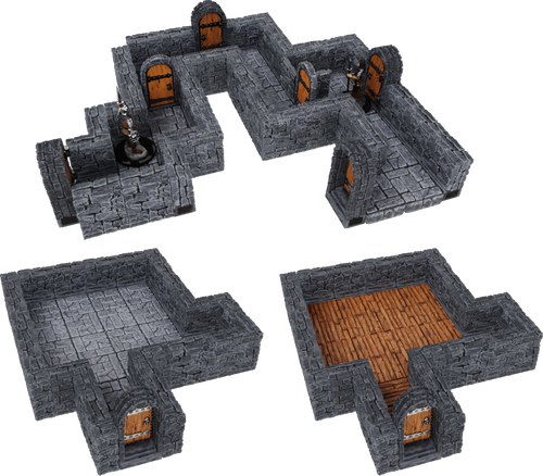WarLock Tiles: Dungeon Tiles Expansion - One Inch Straight Walls