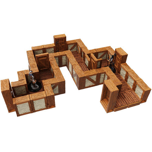 WarLock Tiles: Towns & Village Tiles Expansion: One Inch Straight Walls