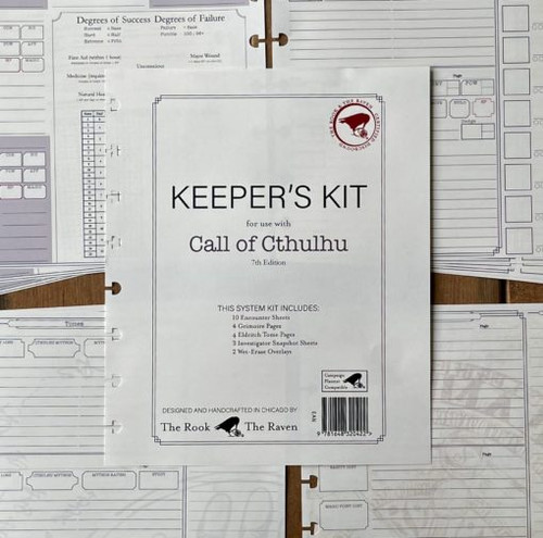 Keeper Kit for use with Call of Cthulhu