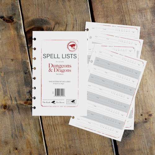 Spell Lists for use with Dungeons & Dragons 5th Edition