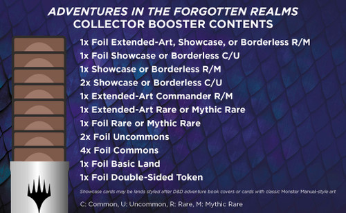Adventures in the Forgotten Realms Collector Booster | 15 Magic Cards