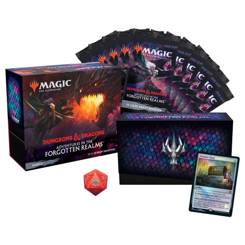 Adventures in the Forgotten Realms Bundle | 10 Draft Boosters (150 Magic Cards) + Accessories