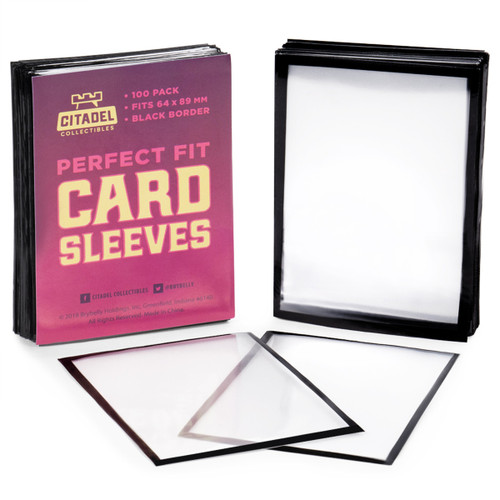 Perfect Fit Card Sleeves Black