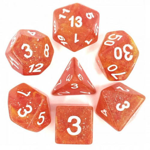 Galaxy Yellow/Red Dice