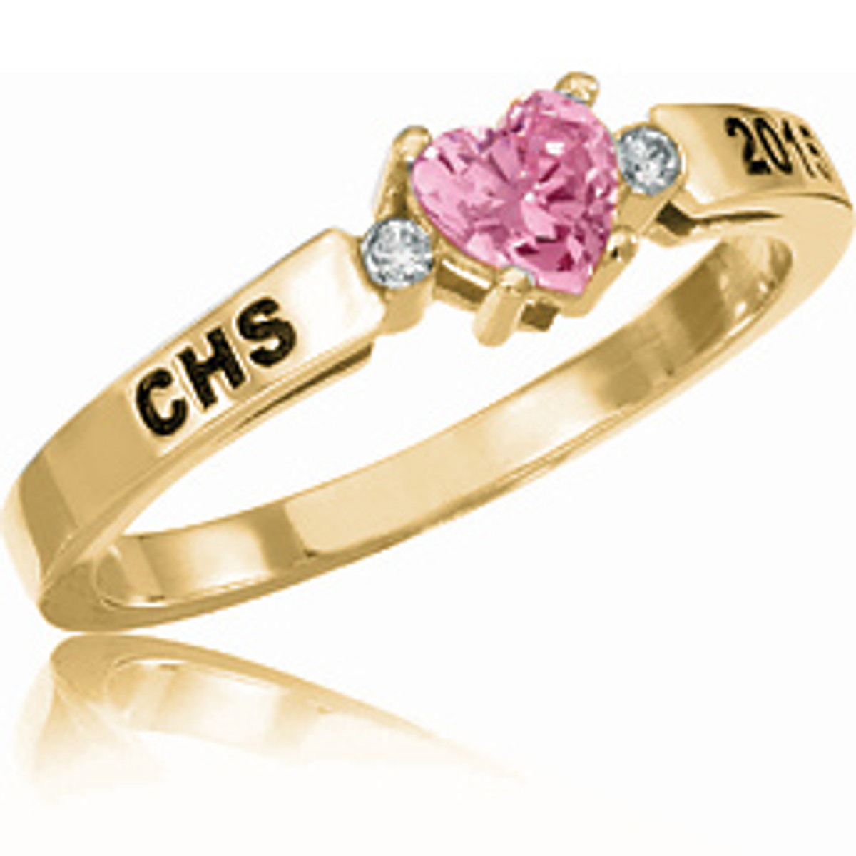 Ladies 10K Gold Beloved with Diamonds Class Ring