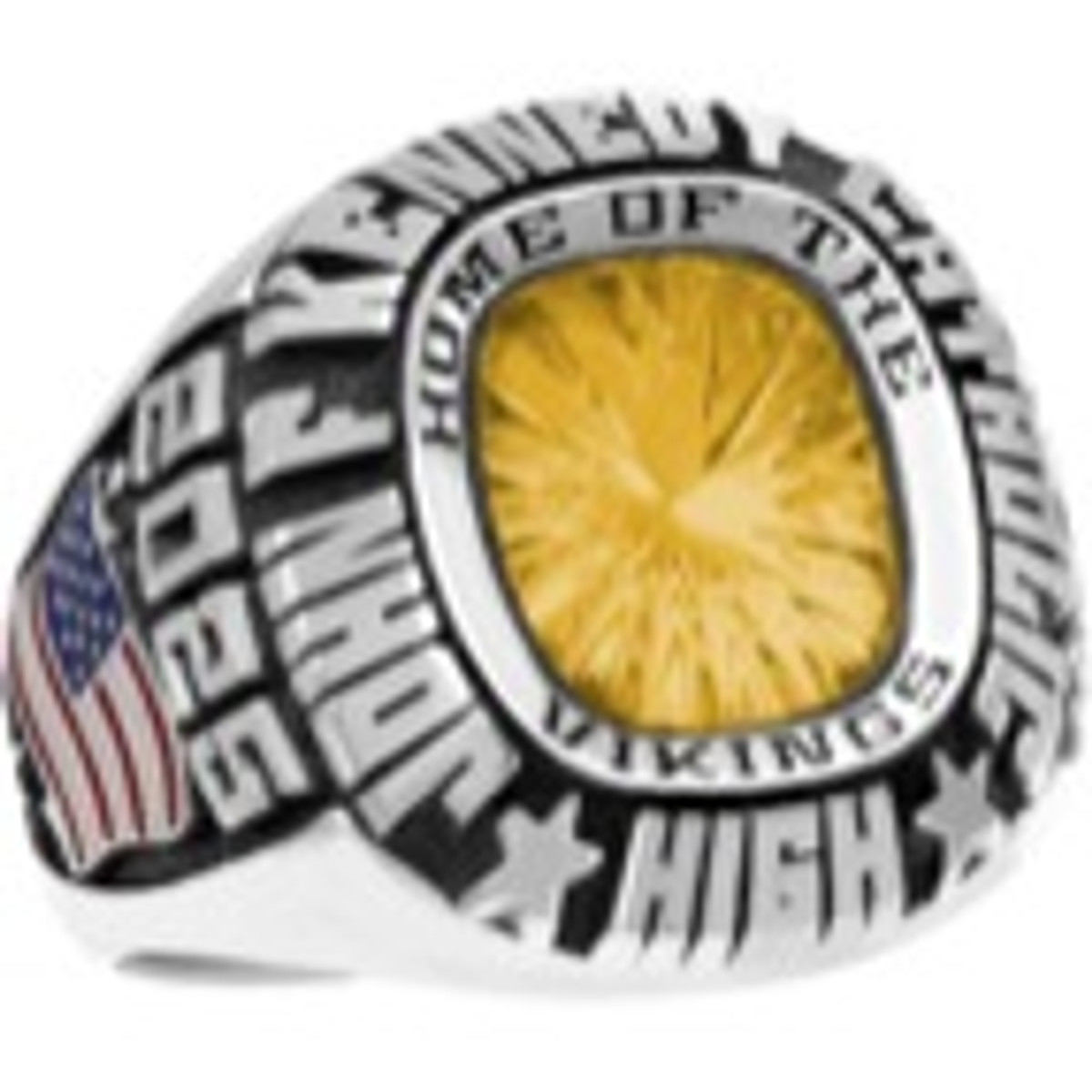 Mens Siladium Patriot Class Ring