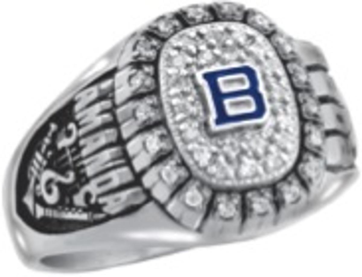 Ladies Silver Select Monogram Patriot Class Ring