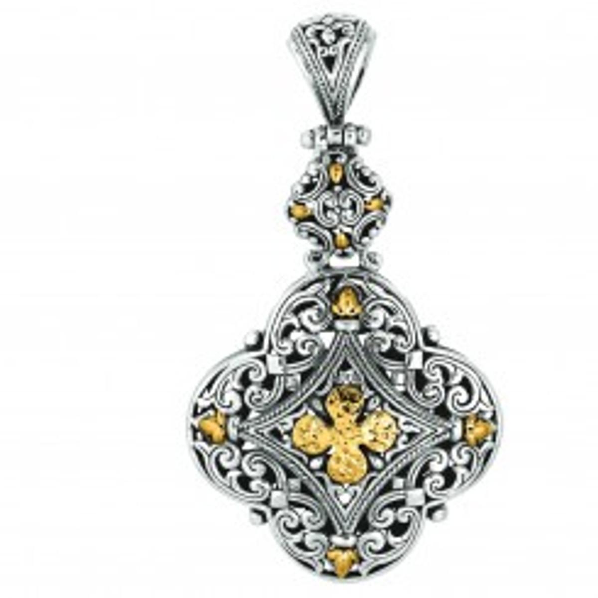 Phillip Gavriel 18k Yellow Gold & Sterling Silver Pendant