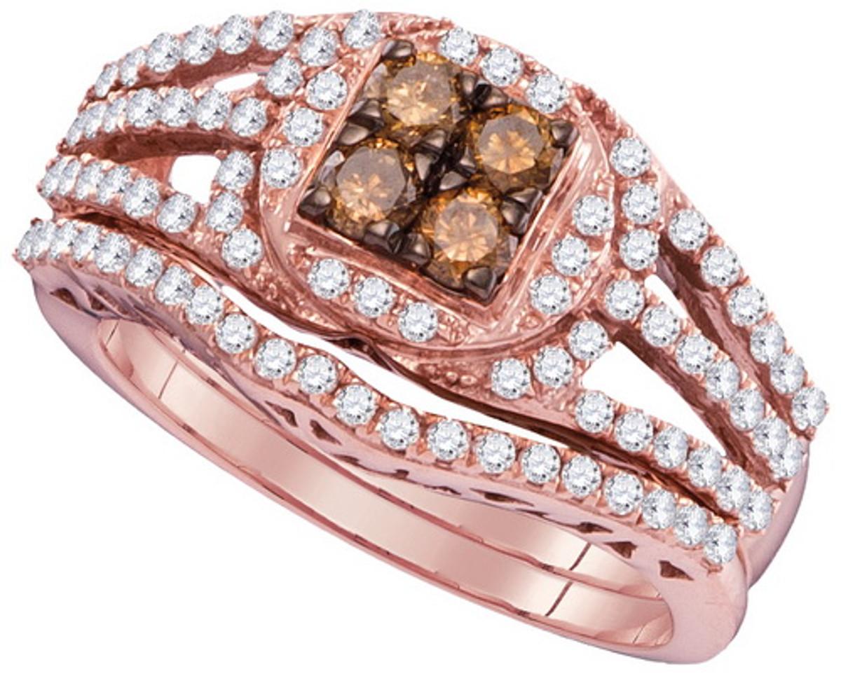 1.00CTW COGNAC DIAMOND FASHION RING