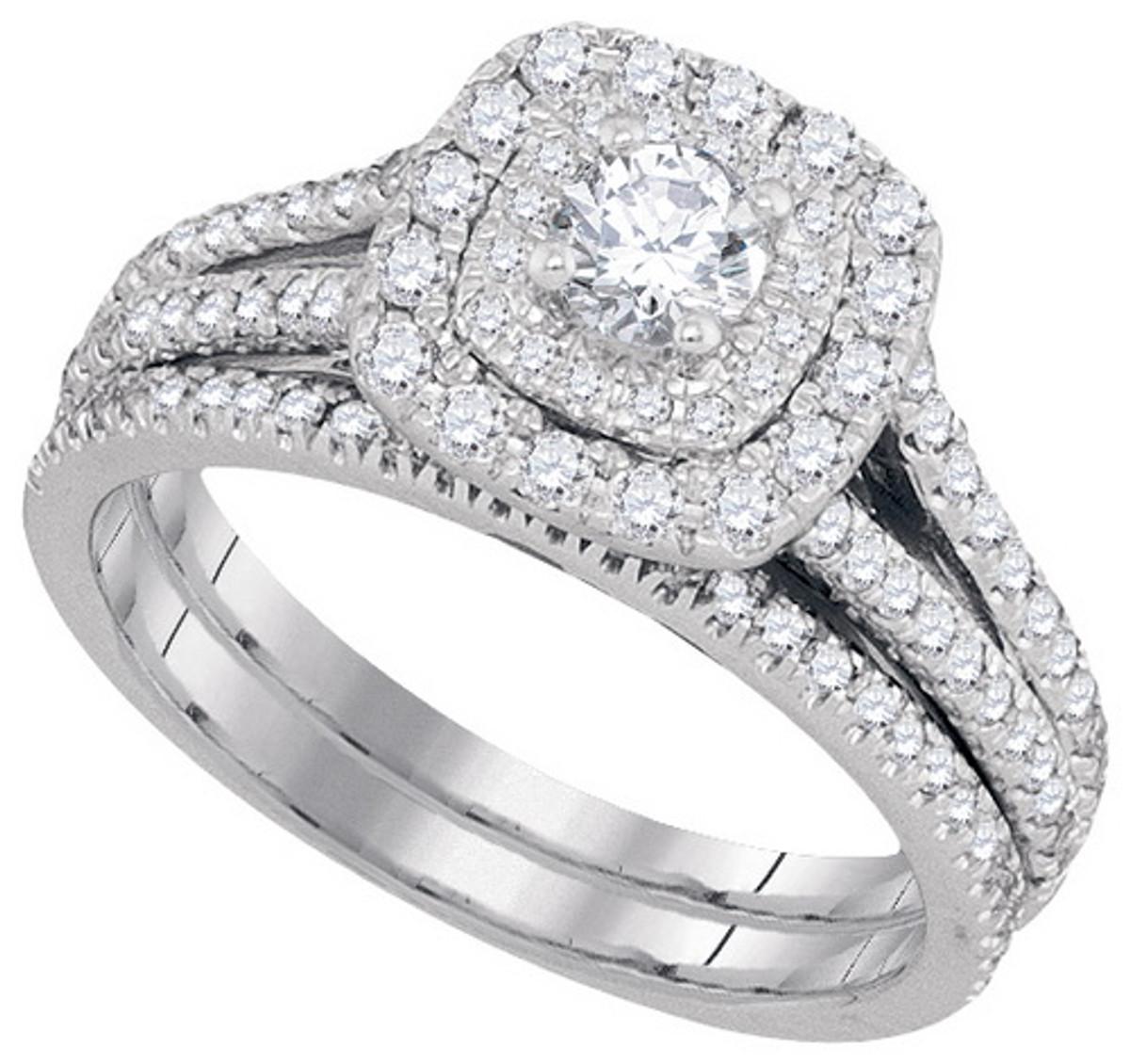 1.00CTW DIAMOND 0.25CT-CRD BRIDAL SET
