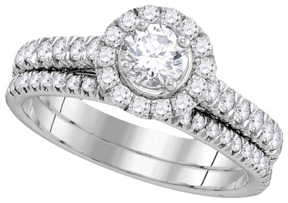 1.00CTW DIAMOND 0.33CT-CRD BRIDAL SET