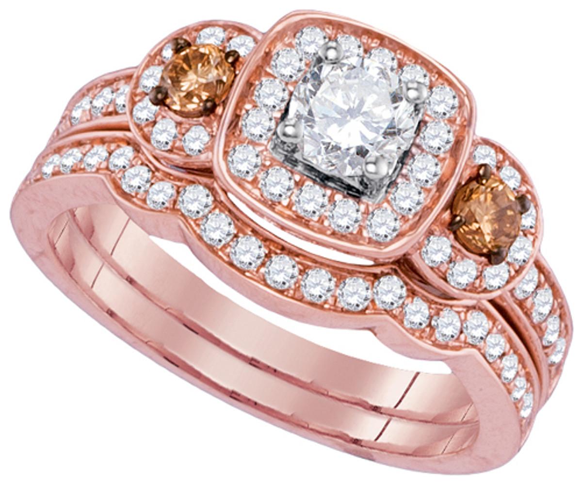 1.01CTW DIAMOND 0.33CT CENTRE ROUND DIAMOND BRIDAL SET