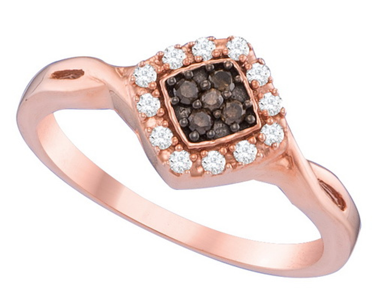 0.18CTW COGNAC DIAMOND FASHION RING
