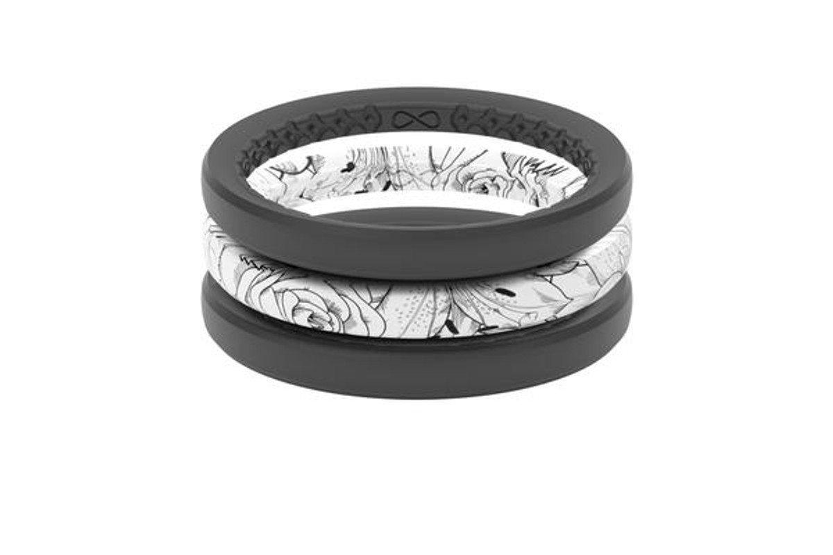 Women's Stackable Silicone Wedding Ring   Air - Rose