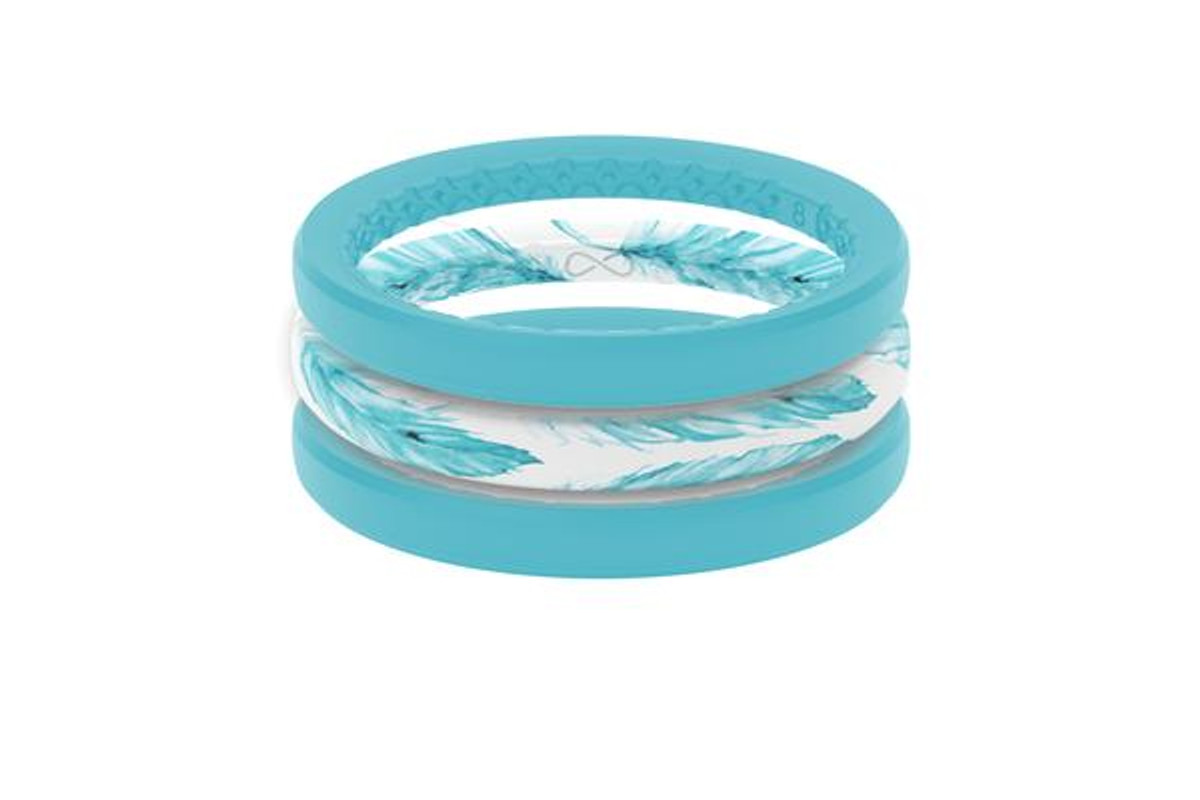 Women's Stackable Silicone Wedding Ring | Air - Feather