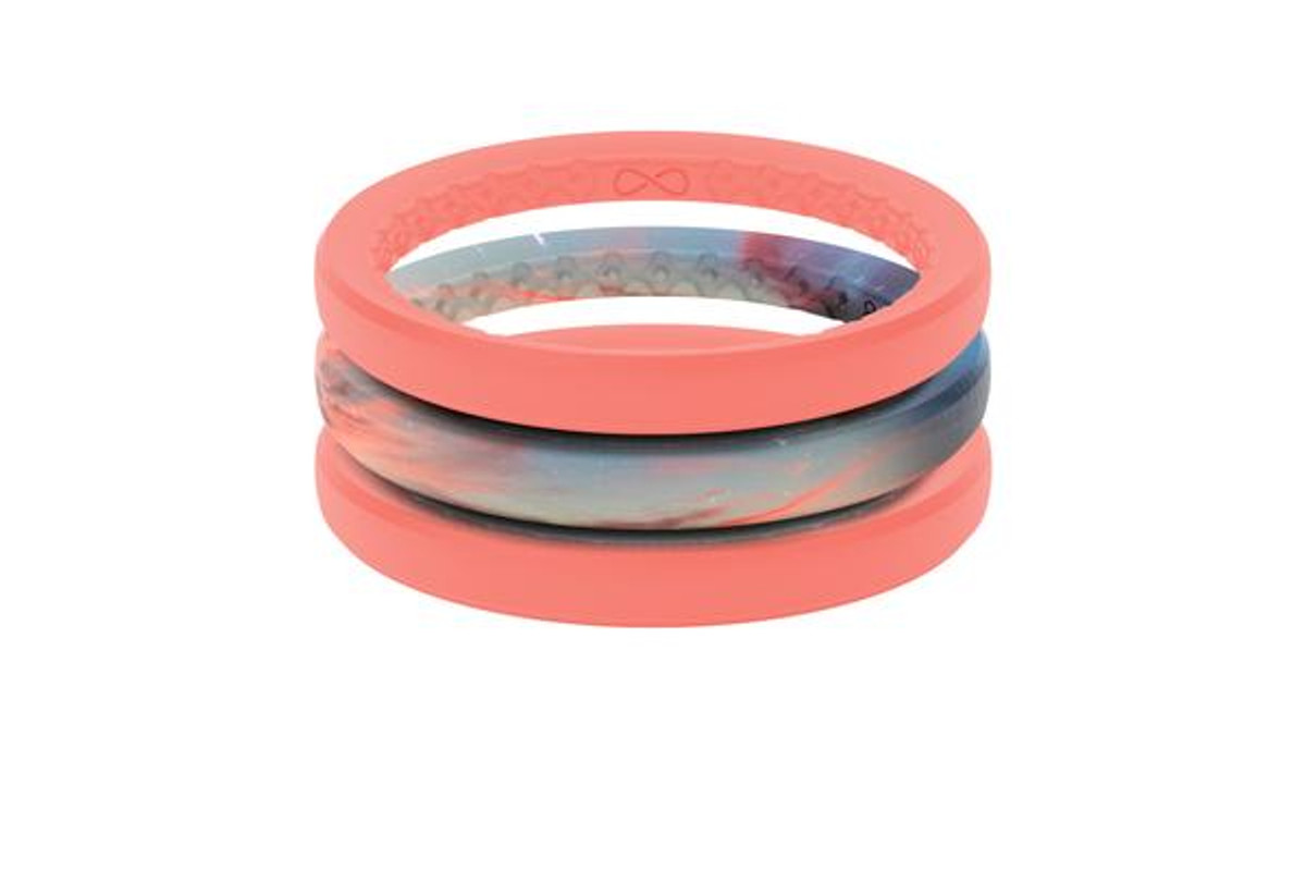 Women's Stackable Silicone Wedding Ring   Air - Sunset