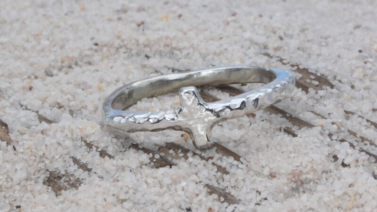 Earthgrace Courage Cross Ring