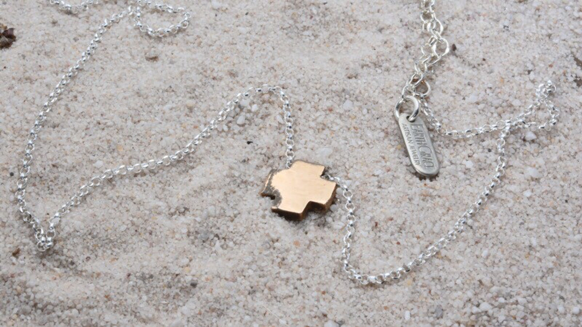Tiny Block Cross Necklace