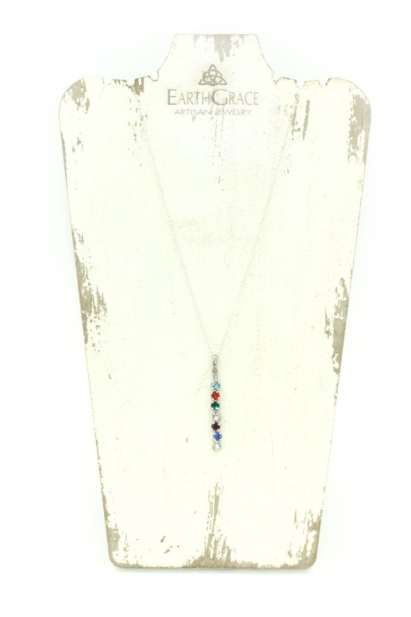 Earth Grace Silver Slide Necklace