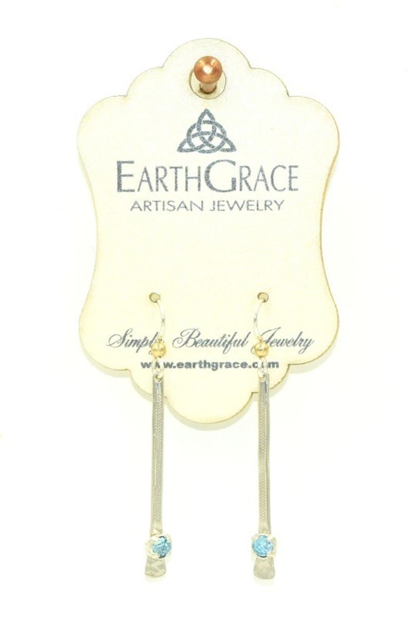 Earth Grace Silver Slide Earrings