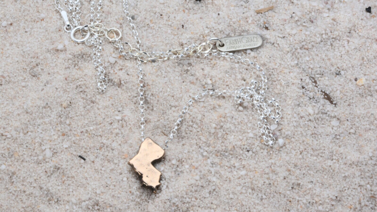 Earth Grace Tiny State Necklace