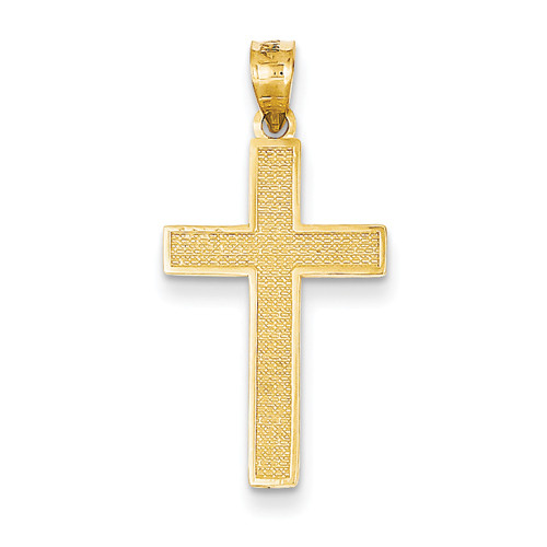 Yellow gold textured cross