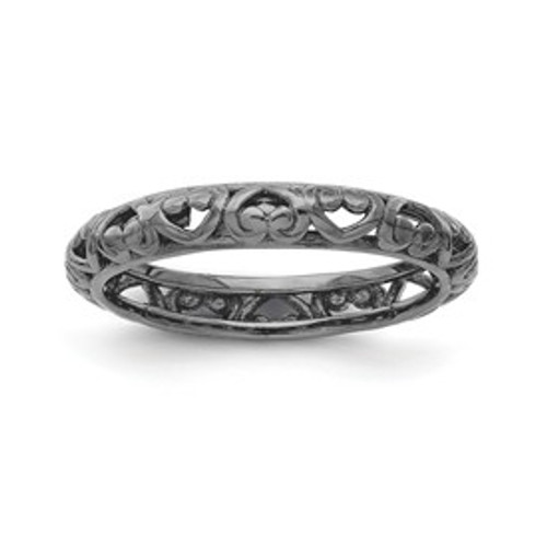 Stackable Expressions Sterling Silver White Topaz Ring MSRP $205
