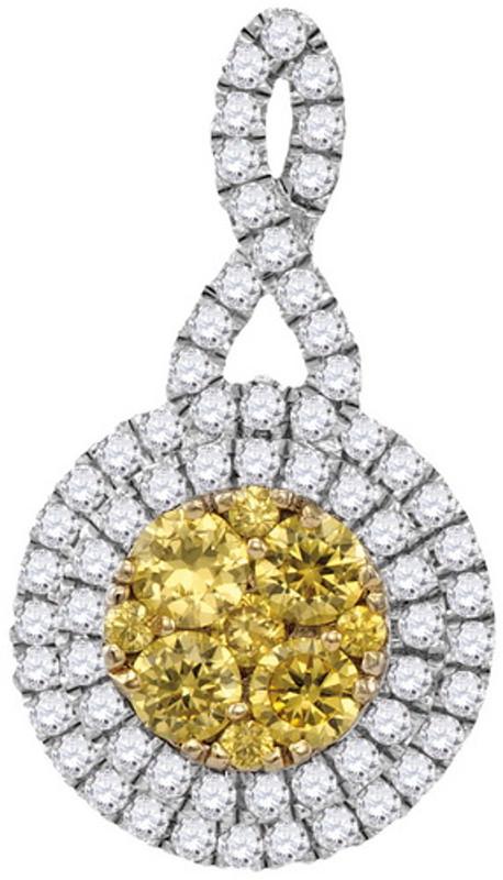 1.00CTW NATURAL YELLOW DIAMOND FASHION PENDANT