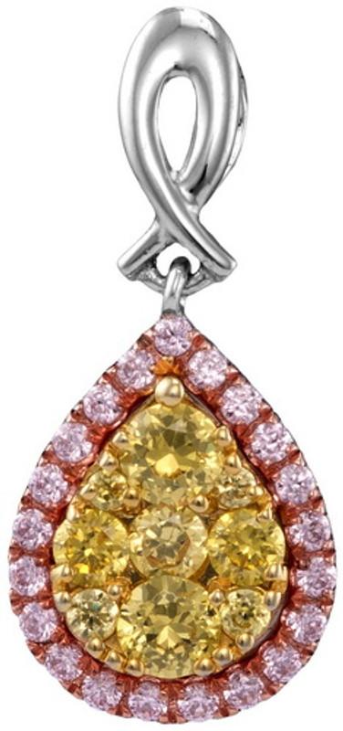 0.58CTW NATURAL YELLOW DIAMOND FASHION PENDANT