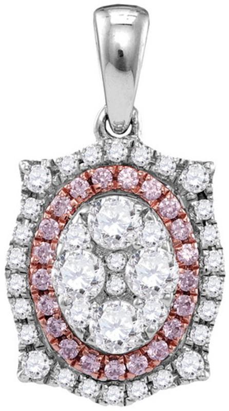0.85CTW PINK DIAMOND FASHION PENDANT
