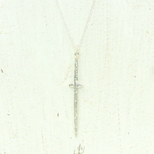 Earth Grace Courage Cross Necklace